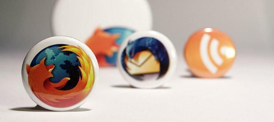 Logotipos navegador Firefox, feed RSS, Thunderbird