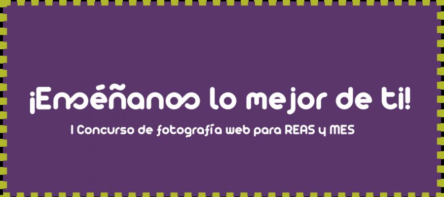 Cartel del I concurso de fotografía web para REAS y MES