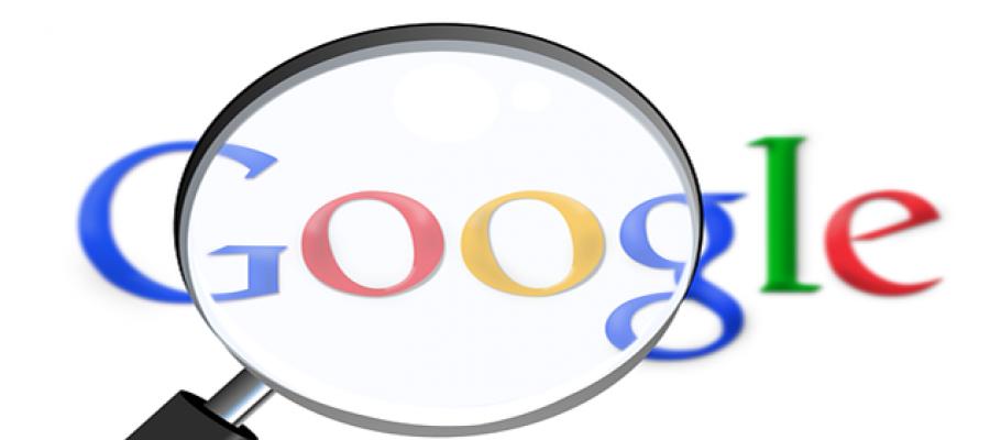 Imagen de Google con una lupa