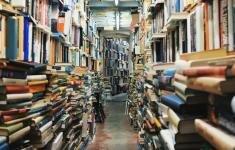 Imagen de libros en una librería