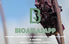 Página de inicio de la web de BioAtlasApp